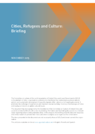 Cities, Refugees and Culture: Briefing