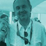 Na sliki: direktorica usposabljanja MIDPOINT Barbora Struss, vodja izobraževanja Danijel Hočevar in projektna vodja Kristyna Plhonova na sprejemu v Cannesu.